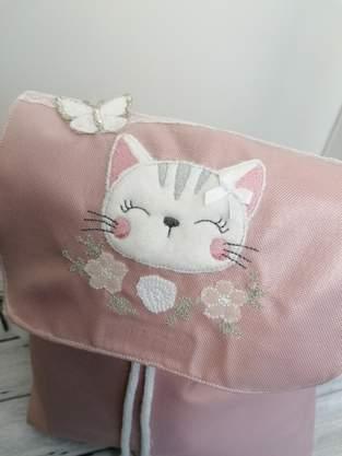 Makerist - Katze auf einem Rucksack für meine Tochter - 1