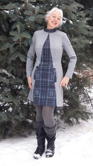 Retro- Sweat- Kleid Fanni für Damen