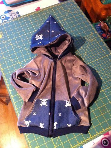 Makerist - cooler Kapuzensweatie für meinen Sohnemann - Nähprojekte - 2