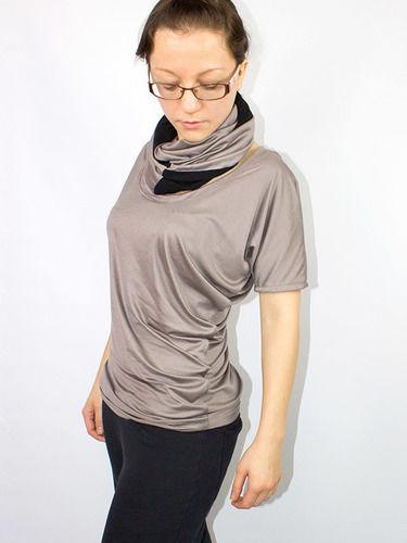 Makerist - Drapiertes Shirt aus veganen Stoffen - Nähprojekte - 1