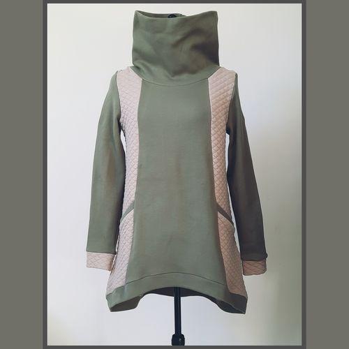 Makerist - Sweat aya l'usine à bulle en maille sweat et jersey losange. Pour le mauve sweat et un jersey type velours.  Patron facile pour les débutants - Créations de couture - 1