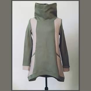 Makerist - Sweat aya l'usine à bulle en maille sweat et jersey losange. Pour le mauve sweat et un jersey type velours.  Patron facile pour les débutants - 1
