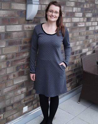 Makerist - Weihnachtliches Jerseykleid FrauFannie - 1