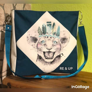Makerist - Square Bag, Little Indian Lion - 1