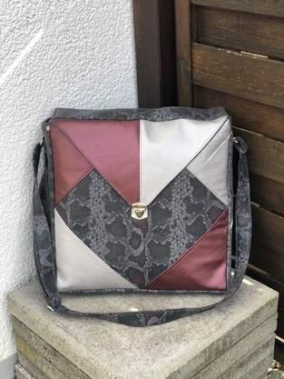 Makerist - Square Bag, Kunstleder/Snake - 1