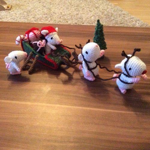 Makerist - Weihnachtsmäuse ABO - Häkelprojekte - 1