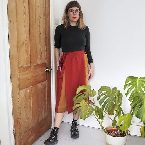 Makerist - Leda - Atelier Vicolo No 6 - Midi length wrap skirt - Sewing Showcase - 2