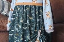 Makerist - Waldkind, Kapuzenkleid mit Doppellagenrock in Farb- und Mustermix für mein Enkelkind - 1