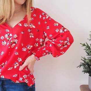 The Florence Blouse by Size Me Sewing