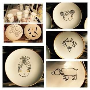 ABO: Bemalte Keramik zu Weihnachten
