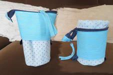 Makerist - Stiftemäppchen Flexi-Susi blau weiß aus Baumwolle - 1