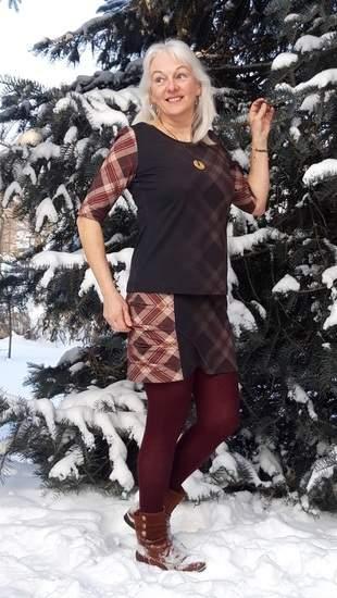 Shirt Bellis mit Rock als zweiteiliges Kleid