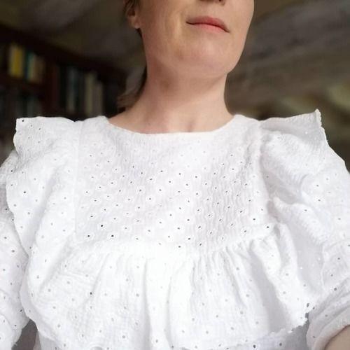 Makerist - Blouse Jolanda en double gaze brodée cousu pour moi - Créations de couture - 2