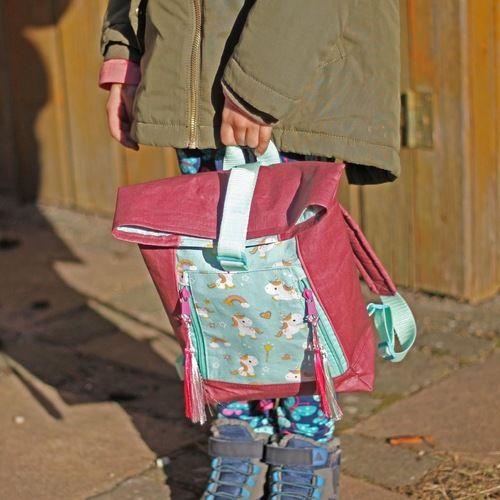 Makerist - Rucksack Yoko Mini aus Glitzerstoff  - Nähprojekte - 3