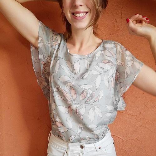 Makerist - Blouse Valentina en tissu fluide et léger, pour les beaux jours  - Créations de couture - 1