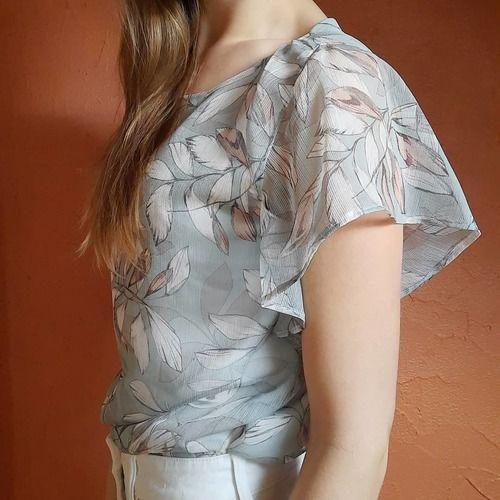 Makerist - Blouse Valentina en tissu fluide et léger, pour les beaux jours  - Créations de couture - 2