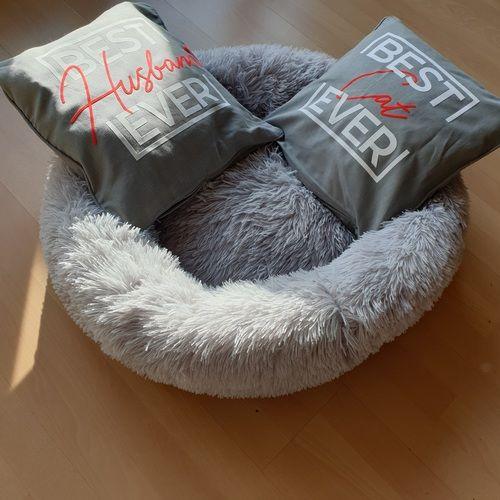 Makerist - Best ever - kuschelig mit Flock für mein Mann aufs kissen - Textilgestaltung - 1