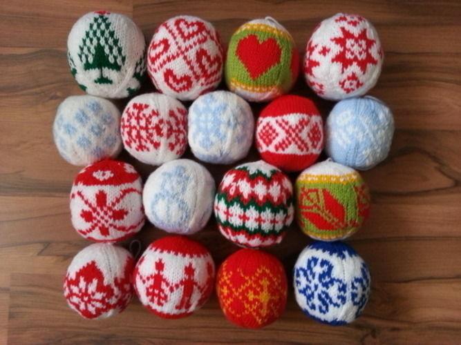 Makerist - Weihnachtskugeln aus Wolle - Strickprojekte - 1