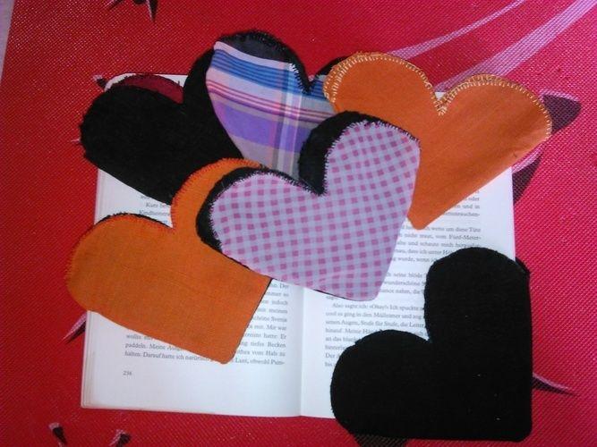Makerist - Lesezeichen aus stoff für verliebte - Nähprojekte - 1