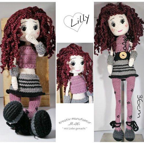 Makerist - Puppe Lilly mit vielen Extras und Details - Häkelprojekte - 3