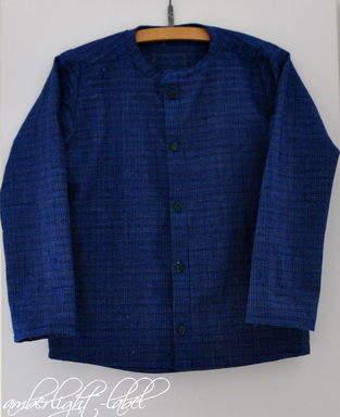 Makerist - Schuleinführung 2020: Hemd Michel von Fabelwald Gr. 128 aus handgewebtem Stoff Xinchang Ancient Town - 1