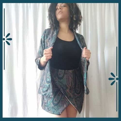 Makerist - Jupe Calypso en jacquard lurex - Créations de couture - 1