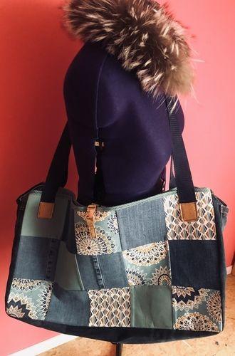 Makerist - Upcycling alter Jeans und Stoffreste zur Montagstasche - DIY-Projekte - 1