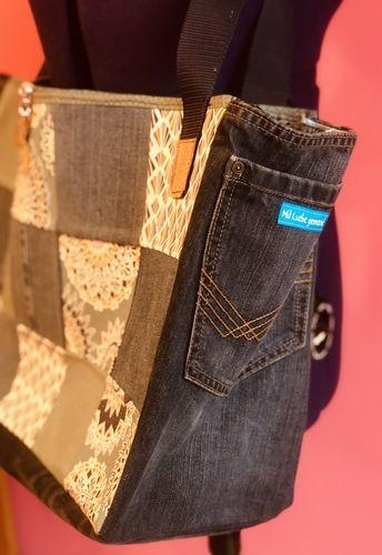 Makerist - Upcycling alter Jeans und Stoffreste zur Montagstasche - DIY-Projekte - 3