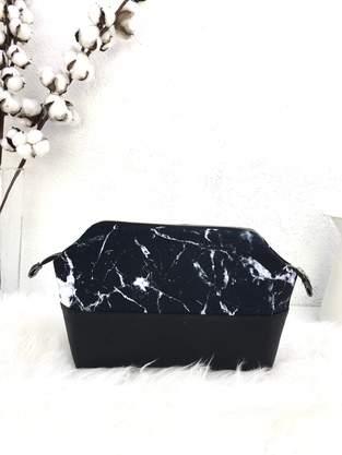 Makerist - Handmade Kulturtasche,Nachhaltig,Kunstleder,canvas,marbleblck - 1