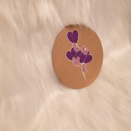 Makerist - Loveballons zum Hochzeitstag auf Holz gepresstt - Textilgestaltung - 2
