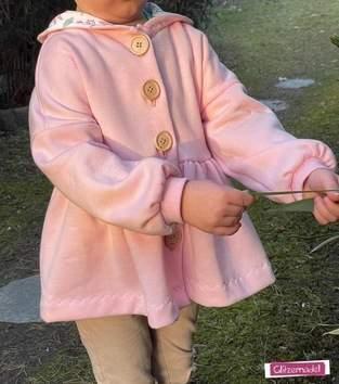 Kids Sweater Jacket aus Sweat mit Knöpfen