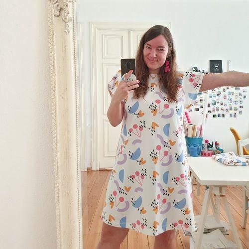 Makerist - Kleid Laisa mit eigenem Stoff-Design - Nähprojekte - 3