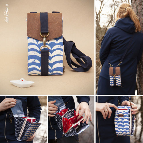 Makerist - maritime Little Foksa von Hansedelli - kleine praktische Tasche - Nähprojekte - 1