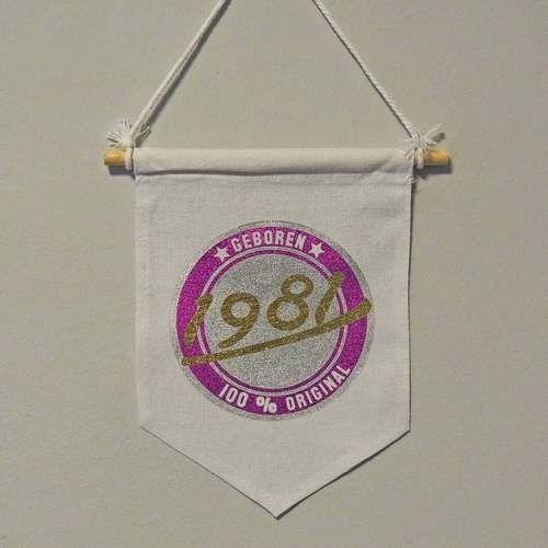 Makerist - Geburtstagswimpel  - Textilgestaltung - 1