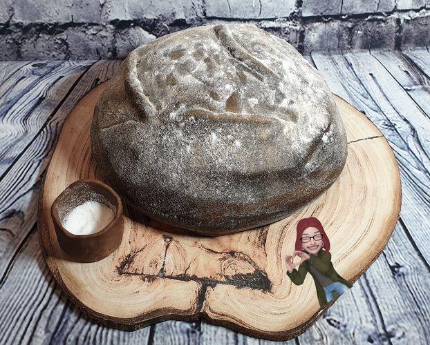 Makerist - Brot mit Salz zum Umzug - aber als Torte mit Fondant - Torten, Cake Pops und Cupcakes - 1