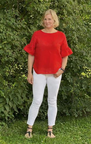 Makerist - Eine Areia aus rotem Leinen für mich - 1