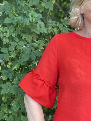 Makerist - Eine Areia aus rotem Leinen für mich - Nähprojekte - 2
