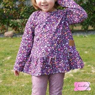 Makerist - Girly Dress mit Streublumenjersey - 1