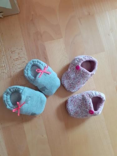 Makerist - chaussons de bébé pour ma future nièce - Créations de couture - 1