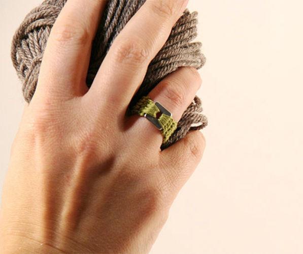Makerist - Gehäkelter Ring in der Farbe grün - Häkelprojekte - 1