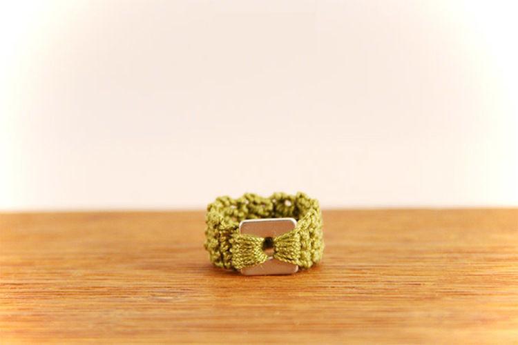 Makerist - Gehäkelter Ring in der Farbe grün - Häkelprojekte - 2