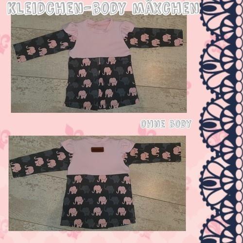 Makerist - Kleidchen-Body Mäxchen ohne Body - Nähprojekte - 1