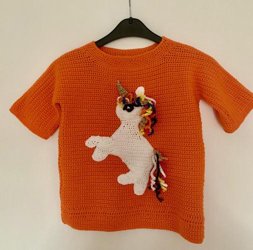 Makerist - Einhorn Pullover - Häkelprojekte - 1