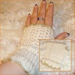 """Handstulpen """"Snowwhite"""""""