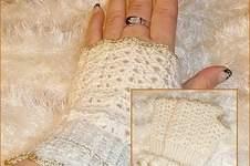 "Makerist - Handstulpen ""Snowwhite"" - 1"