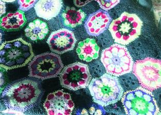 Makerist - Granny Squares Blanket Hauptsache bunt - 1