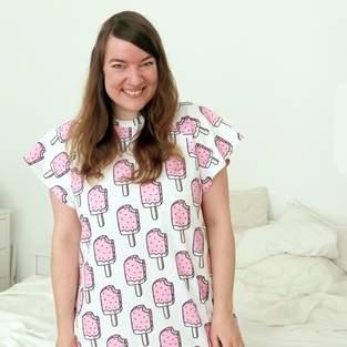 Kleid Laisa mit eigenem Stoff-Design