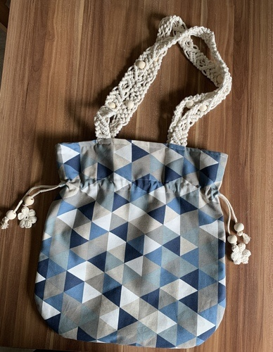 Makerist - Beuteltasche mit Makrameeträger - DIY-Projekte - 1