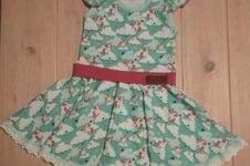 Makerist - Marlene-Kleid - Variante Einhorn Mint - Größe 110 - Geburtstagsgeschenk für ein Mini-Mädchen - 1