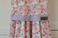 Makerist - Marlene-Kleid - Variante Einhorn Rosa - Größe 134- Geburtstagsgeschenk für unser eigenes Maiglöckchen - 1